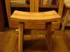 柚木船型造型椅