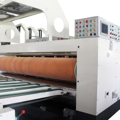 紙箱工廠製造機台-電腦自動四色印刷開槽機