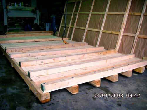 機械裝櫃木製底板